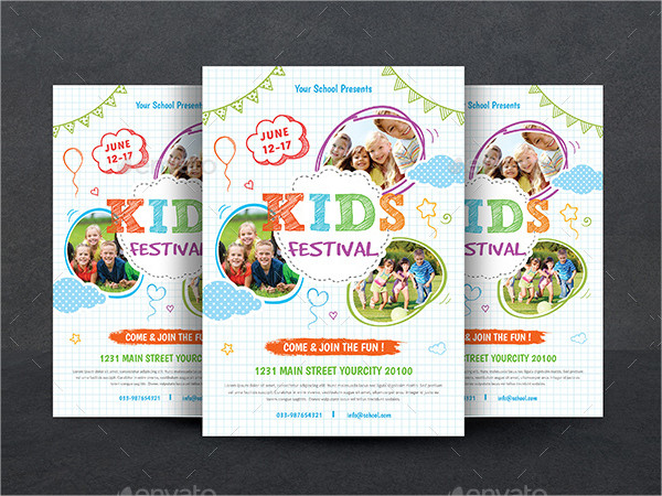 Attractive Flyer for Kids Festival