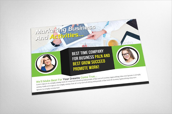 Commercial Marketing Postcard