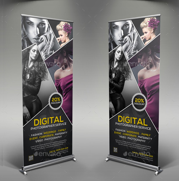 PSD Photography Rollup Banner