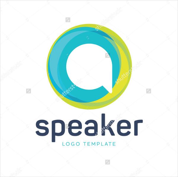 Speaker Logo Template for Communication