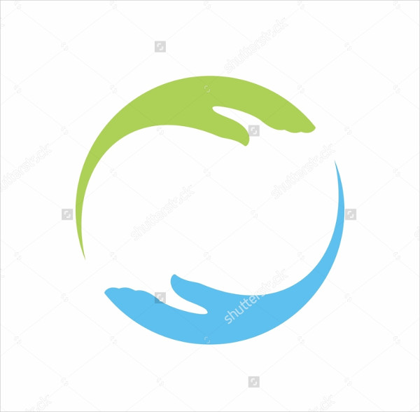 Community Two Hand Logo Vector