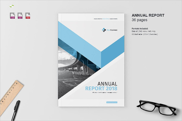 InDesign Brochure Template for Annual Report