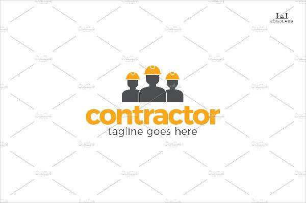 Unique Contractor Logo Template