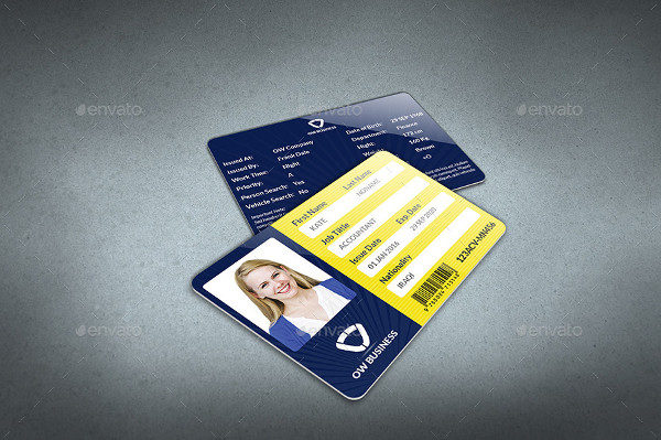 29 customizable id card templates free premium download company id card template flashek Images