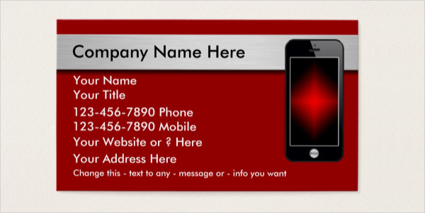Customizable Mobile Phone Business Cards