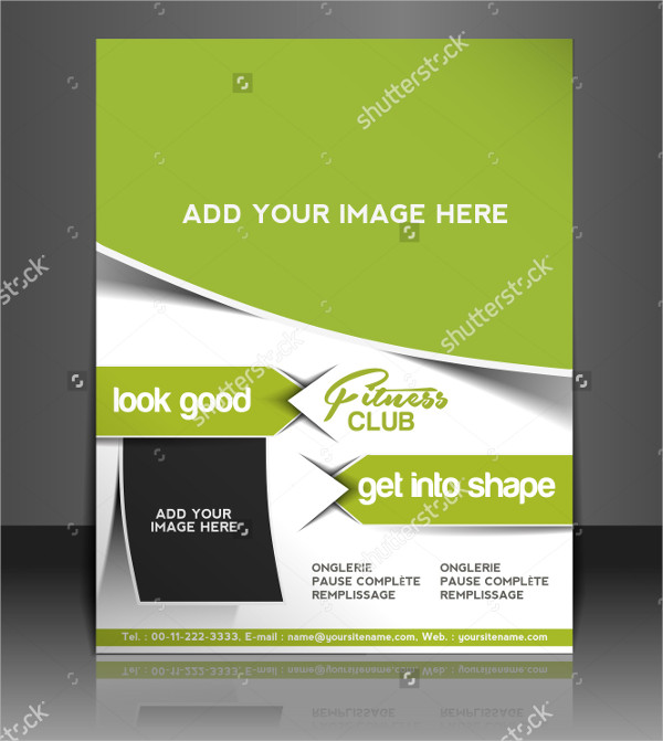 Vector Fitness Club Brochure or Flyer Template