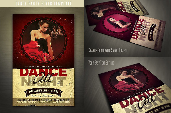 Fully Editable Dance Night Flyer Templates
