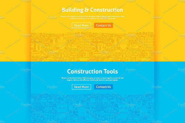 Construction Line Web Banner