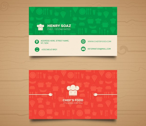 Cooking School Business Cards Free Download