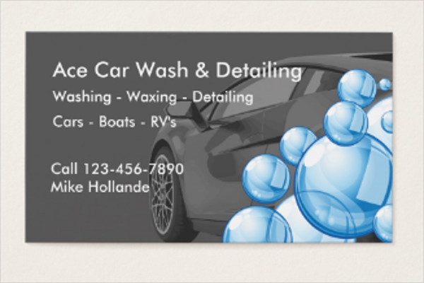Car Wash & Detailing Business Card