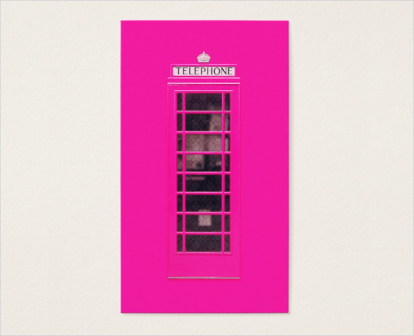 Modern Phone Booth Business Card