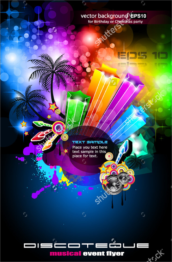 Tropical Musical Party Flyer Template