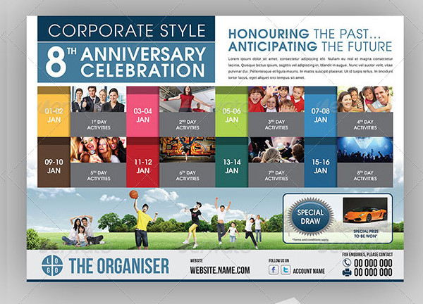 Corporate Anniversary Celebration Event Flyer