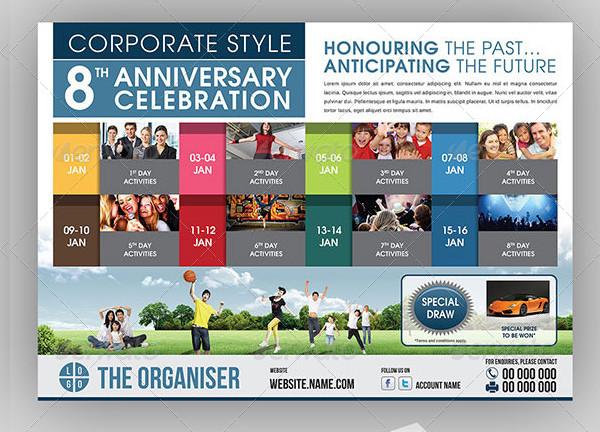 Corporate Anniversary Celebration Event Flyer
