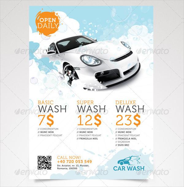 Unique Car Wash Flyer Template