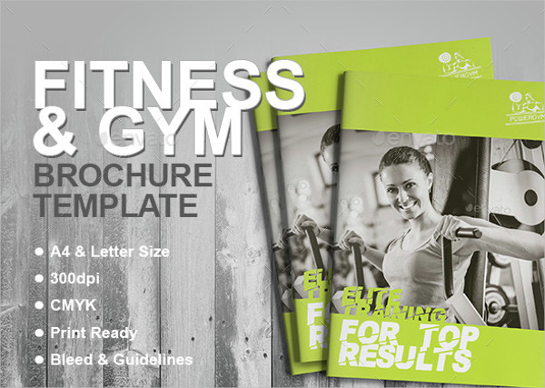 Corporate Fitness Advertising Brochure Template