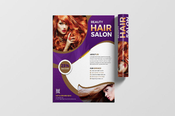 Clean Beauty & Hair Salon Flyer Sample
