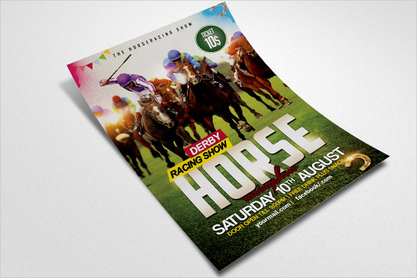 Corporate Horse Racing Flyer