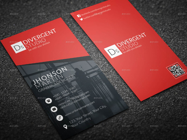 Vertical Studio Business Card