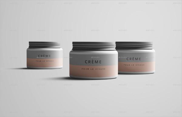 Professional Cosmetic Jar Mockup