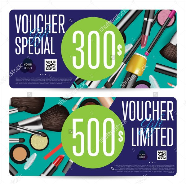 Cosmetics Fashion Gift Voucher