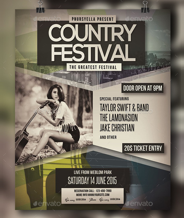 Country Club Event Poster