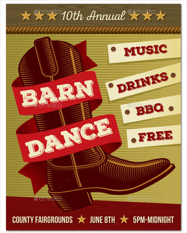 Country Music Barn Dance Poster