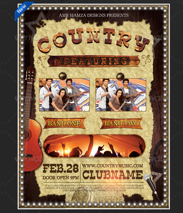 Country Music Event Poster