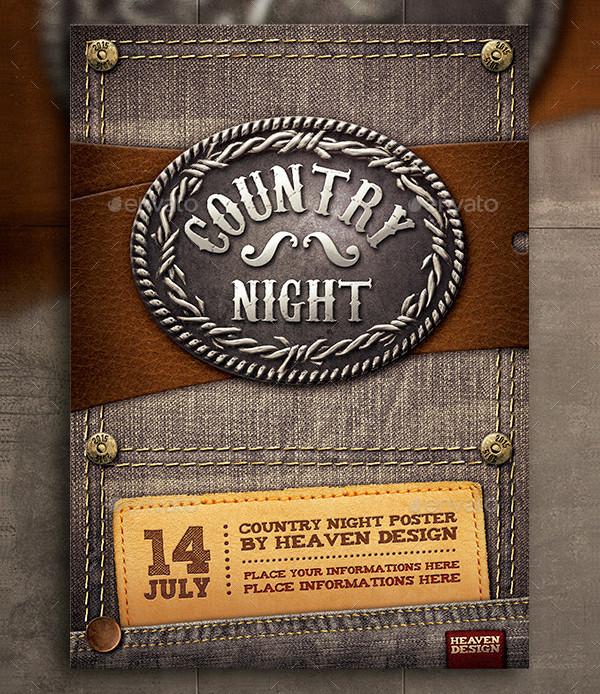 Country Night Poster