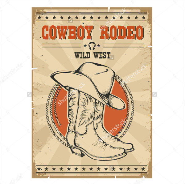 Country Rodeo Cowboy Poster