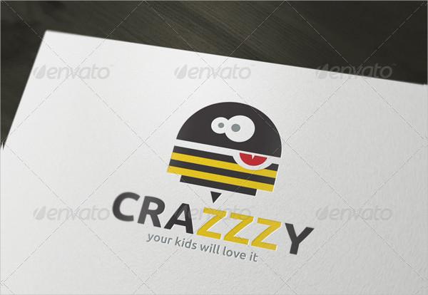 Crazy Bee Branding Logo Template