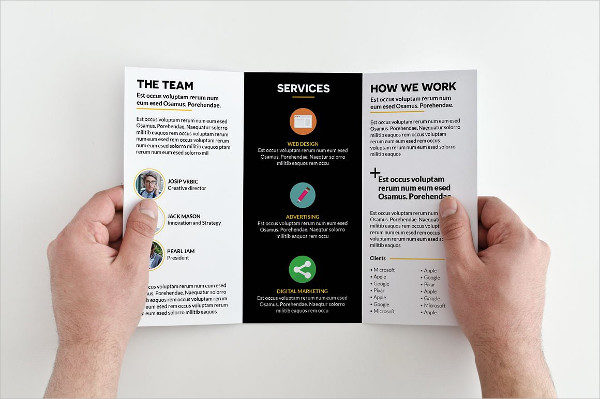 Creative Agency Tri-Fold InDesign Brochure
