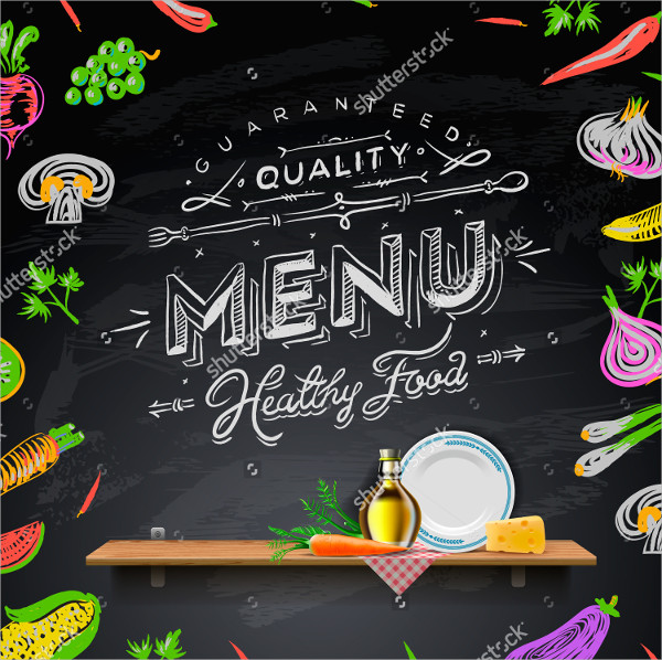 Creative Blackboard Menu Template
