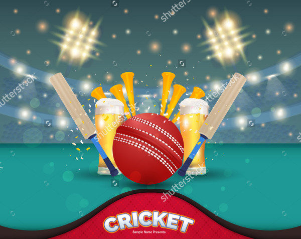 Cricket Event Vector Poster Background