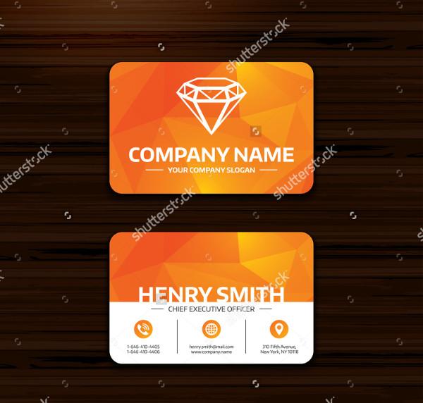 Diamond Sign Jewelry Business Card