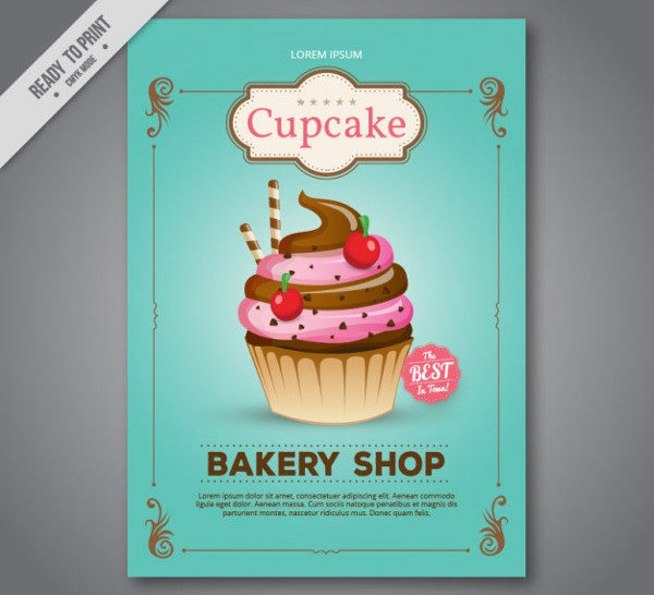 Cupcake Bakery Shop Flyer Free