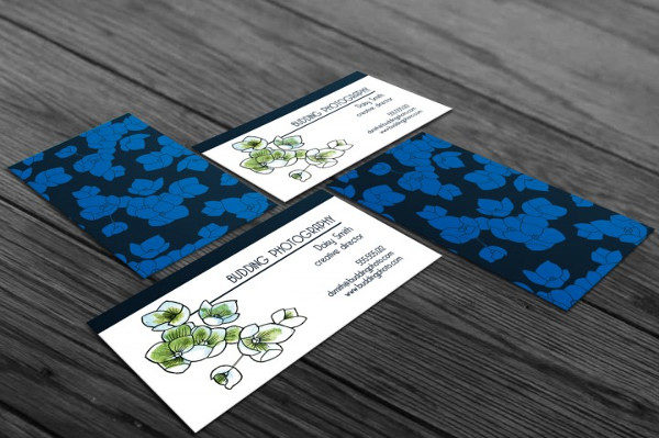 Custom Flower Business Card Template