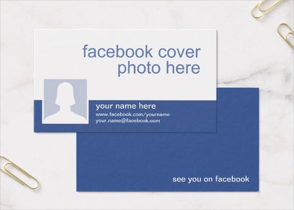 Customizable Facebook Business Cards