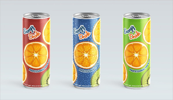 Customizable Mockup of Drink Can