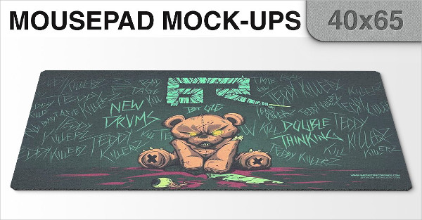 Customizable Mouse Pad Mockups