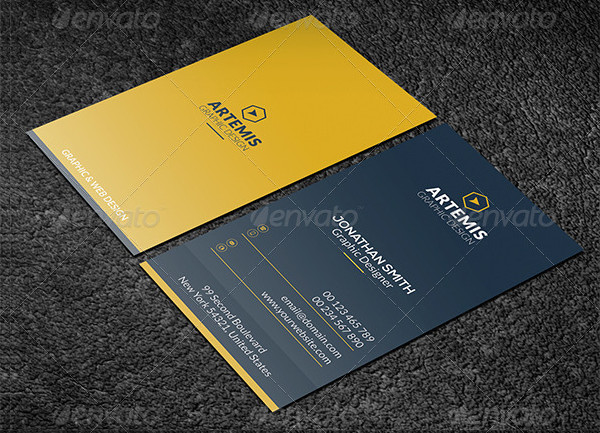 Customizable Vertical Business Cards