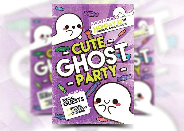 Cute Kids Ghost Festival Party Flyer