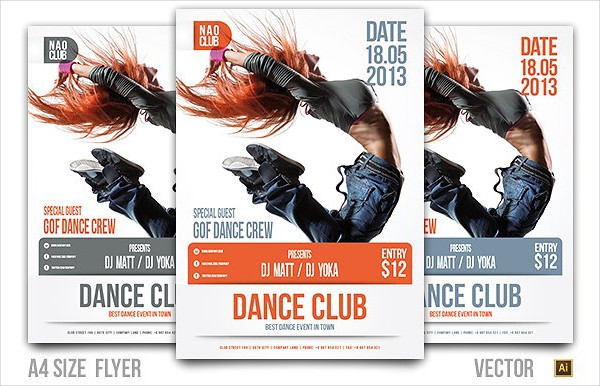 Dance Club Event Party Flyer
