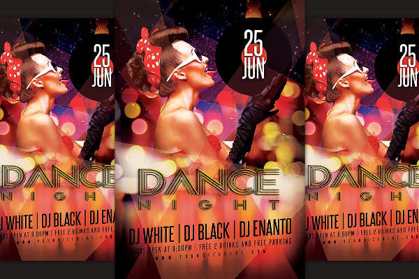 Dance Night Party Flyer Design