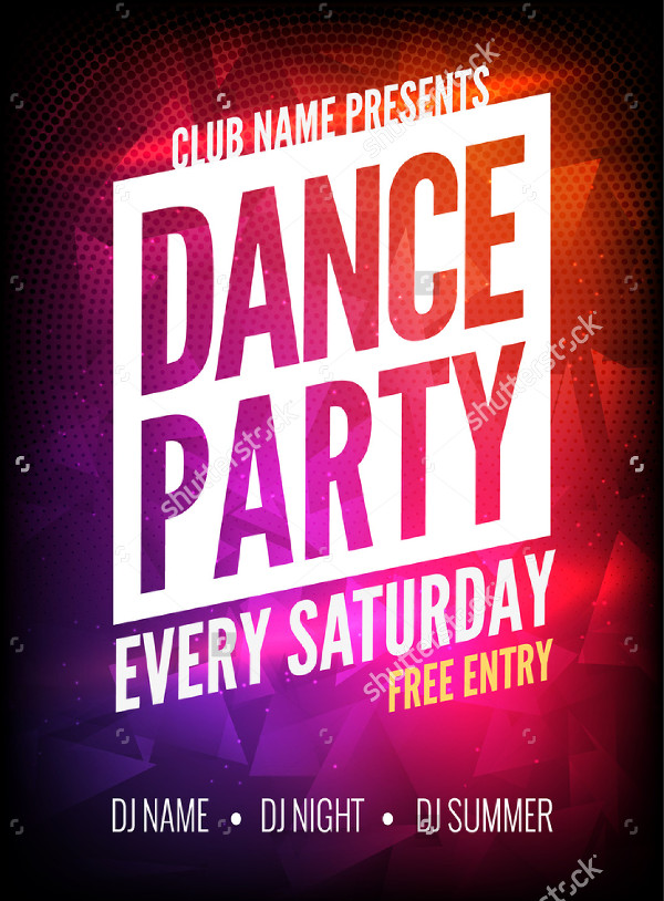 Dance Party Event Poster Template
