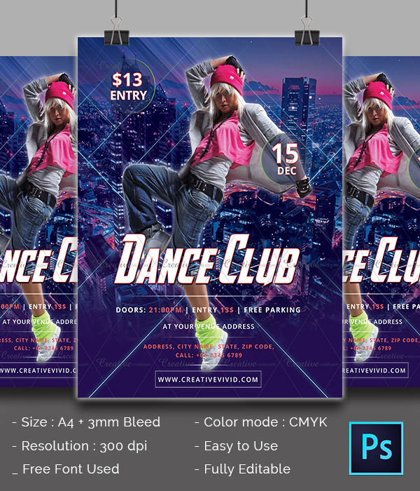 Best Dance Party Flyer Template