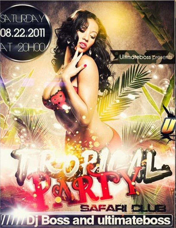 Dance Tropical Party Flyer Template