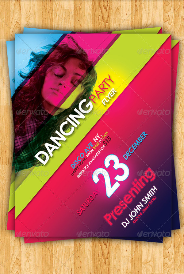 Dancing Party Flyer Template
