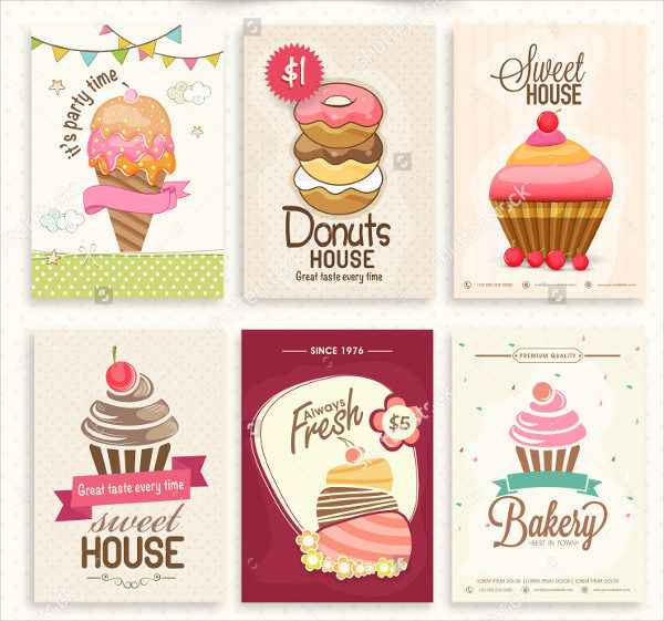 Decorated Collection of Bakery Flyers