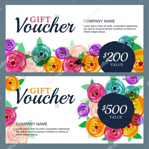 Decorative Fashion Gift Vouchers